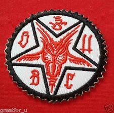 Iron on patch  Satan baphomet sew on jackets or hat+for gift handmade