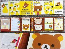 San-X Rilakkuma Bear Post-it 6 Fold: Sticky Memo paper pad sticker note (yellow)