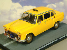1/43 DIECAST JAMES BOND 007 CHECKER MARATHON TAXI CAB FROM LIVE AND LET DIE