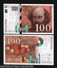FRANCE 100 FRANCS P158 1998 EURO CEZANNE PAINTING UNC CURRENCY MONEY BILL NOTE