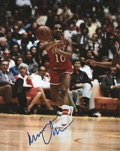 Maurice Cheeks *PHILADELPHIA 76ERS* Signed 8x10 Photo M3 COA GFA