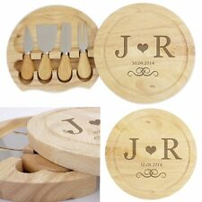 PERSONALISED ENGRAVED CHEESE BOARD Wedding Anniversary Valentines Gift Idea a