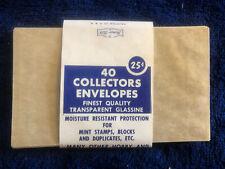Honor Bilt Collectors Envelopes Finest Quality Transparent Glassine 17 Total