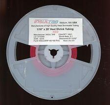 "1/16"" x 20 FEET INSULTab HEAT SHRINK TUBE TUBING RED .0625 Inch PVC"