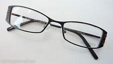 Damenfassung Metallbrille Gestell schwarzbraun schmale Form occhiali Grösse M
