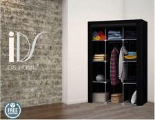 Portable Wardrobe Fabric Clothes Closet Storage System dresser Black