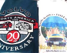2 RARE Vtg Volvo P1800 T Shirts SPORTS AMERICA Club ES 20th 80-90's Car AUTO
