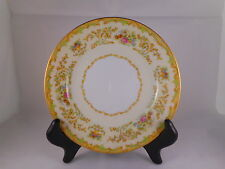 Vintage Bread Plate, Noritake China Mystery Pattern, Green Accent, Vase, Floral
