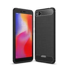 Hülle für Xiaomi Redmi 6A Handy Cover Silikon Case Tasche Bumper Carbonfarben
