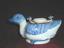 Chinese Blue & White  Porcelain DUCK Bird Sake Teapot Pitcher Planter