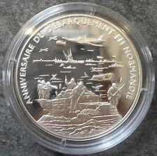 Médaille Argent anniversaire débarquement Normandie Silver 20,00 gr Avion
