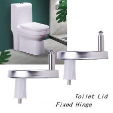 2Pcs Soft Close Bathroom Toilet Seat TOP FIXING HINGES - Universal