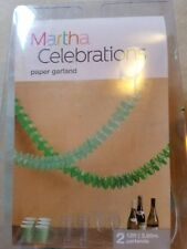 Martha Stewart Shamrock Paper Garland IRISH Green St Patrick's Day Party - NEW