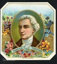 FABRICA DE TOBACOS Brand, Vintage Outer Cigar Label, S41