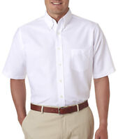 UltraClub Mens Classic Wrinkle-Free Short-Sleeve Oxford 8972 Size S-6XL