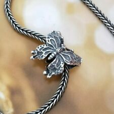 Beautiful Detailed Butterfly 925 Sterling Silver Charm Bracelet Gift Troll Bead