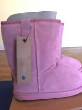NEW EMU Australia Sheepskin Kids Girls US 4 Wallaby Lo Pink Boots