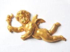 Applique lampe luminaire ange baroque en plâtre statuaire teint 37x35 cm