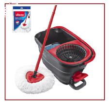 vileda turbo smart da mop lavapavimenti con secchio per mocho a mocio rotante