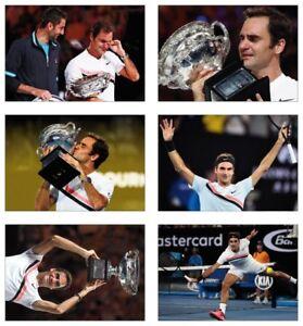 Roger Federer Australian Open 2018 Winner 20th Grand Slam POSTCARD Set