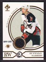 2003-04 Private Stock Reserve Hockey #148 Miroslav Satan Jersey 0099/1000 Sabres