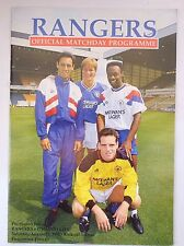 RANGERS v.   DYNAMO KIEV PRE SEASON FRIENDLY 11 AUGUST 1990 BROX STADIUM