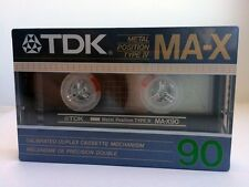 TDK MA-X 90 BLANK AUDIO CASSETTE TAPE NEW RARE 1986 YEAR JAPAN MADE