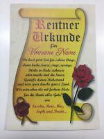 Urkunde für Rentner  Geschenk