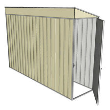 Tunnel Garden Shed End Doors 3.0 x 0.8 Cream