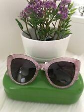 Kate Spade Labrenda Cat Eye Sunglasses Pink Glitter W/ Case