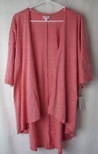 LuLaRoe Lindsay Kimono 3/4 Sleeve Heather Pink Size Small  #6798