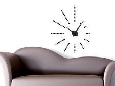 Wandtattoo Uhr Wanduhr Retro: stylische Dots Punkte für Ihr Wohnzimmer