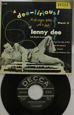 Rock Picture Sleeve 45 Lenny Dee - Five Foot Two, Eyes Of Blue / Out Of Nowhere