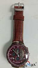 QUARTZ BIG CHRONOGRAPH BENETTON UNISEX WATCH LEATHER STRAP