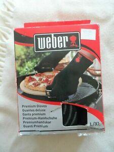 Weber 6670 Premium BBQ Gloves, Black, Heat Resistant Large/ X-Large BNIB