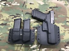 Black Kydex Holster for Glock 20 21 w/ Dual Mag Carrier