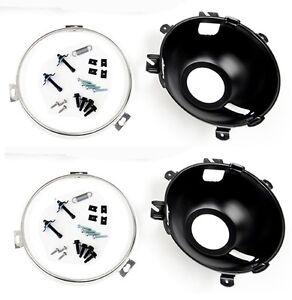 NEW! 1965 - 1966 Ford Mustang Headlight Buckets Retainer Rings, Hardware Set Kit