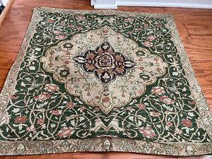 3 PC Ralph Lauren RUTHERFORD PARK Green Tapestry Full/Queen Duvet w 2 Euro Shams