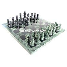 Marble Chess Play Game Table Top Designer Hallway Decor Furniture Rare Art H4566