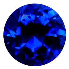 Lab Created Royal Blue Spinel AAA+ Round Brilliant Loose Gemstone (1mm - 20mm)
