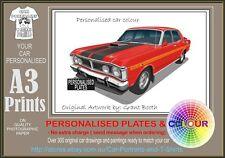 70-72 XW GT FALCON SEDAN A3 ORIGINAL PERSONALISED PRINT POSTER CLASSIC RETRO CAR