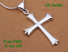 925 Silver Crucifix Cross Pendant Necklace also available a set with earrings UK