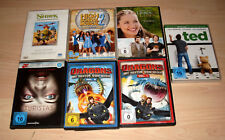 7 DVD s Sammlung: Ted + Turistas + Dragons + Shrek + High School Musical + ...