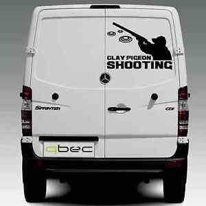 CLAY PIGEON SHOOTING car/van/wall sticker