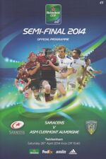 SARACENS v CLERMONT AUVERGNE HEINEKEN CUP SEMI FINAL RUGBY PROGRAMME 2014