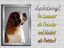 Hundeschule Haustier Bergwacht Adressenstempel « BERNHARDINER » mit Kissen