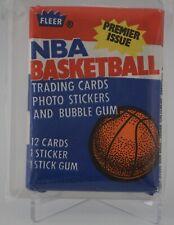 1986 Fleer Basketball Wax Pack Sealed Julius Erving on Back