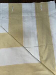 Pottery Barn Shower Curtain Stripe Neutral Yellow / White New Condition 72x72