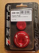Yamaha wrf250 Wrf 250 Wr250f 2003-2009 Zeta Motor Tapones Rojo