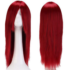 HOT Colorful Long Curly Straight Wig Ombre Hair Wig Women Cosplay Anime Party 0T